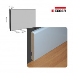 Rodapié Egger Lacado Blanco 85 X 15 mm