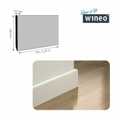 Rodapié Wineo Lacado Blanco 120 X 15 mm