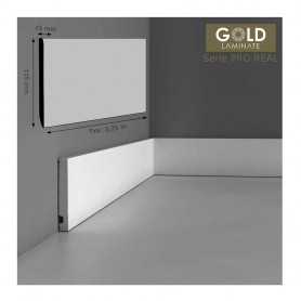 Rodapié Gold Laminate Lacado Blanco 115 X 15 mm