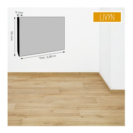 Rodapié Livyn MDF suelos Pulse 9x55 mm