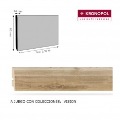 Rodapié Kronopol a juego 85 X 16 mm para colección Vision