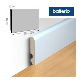 Rodapié Balterio Lacado Blanco 115 X 15 mm