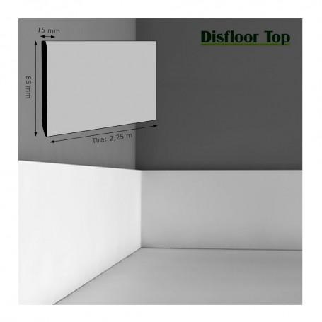Rodapié Disfloor Lacado Blanco 85 X 15 mm