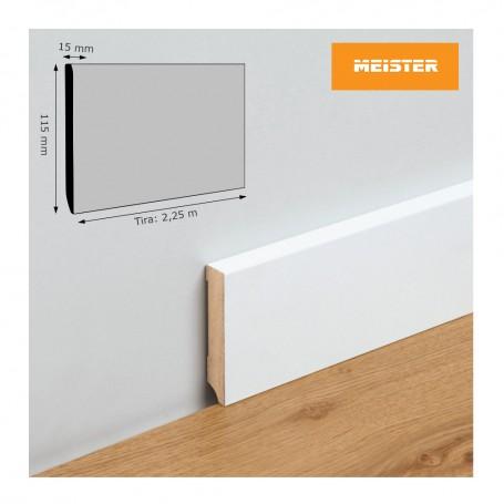 Rodapié Meister Lacado Blanco 115 X 15 mm