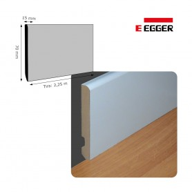 Rodapié Egger Lacado Blanco 70 X 15 mm