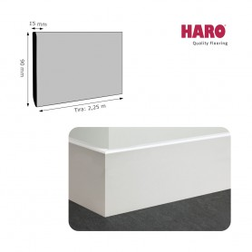 Rodapié Haro Lacado Blanco 90 X 15 mm