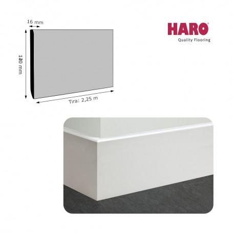 Rodapié Haro Lacado Blanco 140 X 16 mm