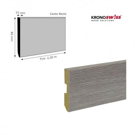 Rodapié Krono Swiss a juego Canto Recto 80 X 15 mm