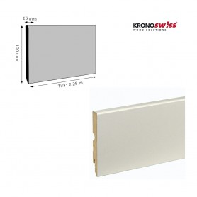 Rodapié Krono Swiss Lacado Blanco 100 X 15 mm